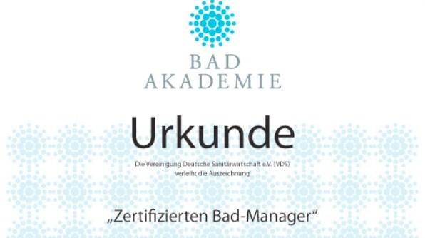 Zertifizierter Bad-Manager; Foto: VDS